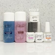 Gelish Harmony Kit 6pc Cleanser Cleanse+Remover 4oz+Base+Top+pH Bond+Structure