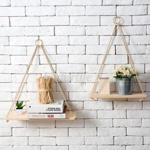 Wall-Hanging-Shelf-Wooden-Floating-Shelves-Display-Storage-Rack-Home-Room