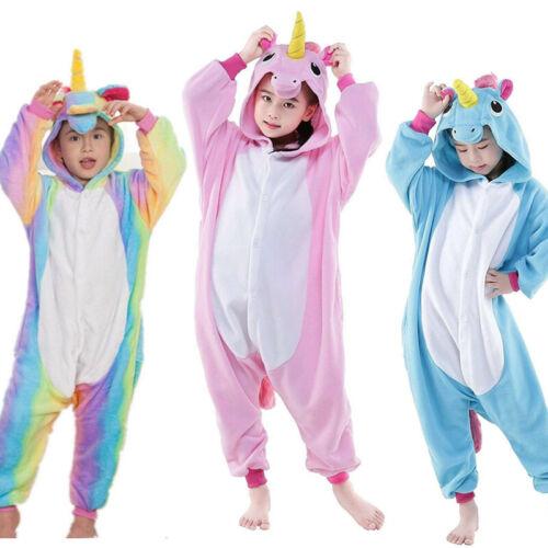 2019 new Unicorn Onesie11 Kids Girls Boys Unisex Cosplay Costume Pjs Pyjamas