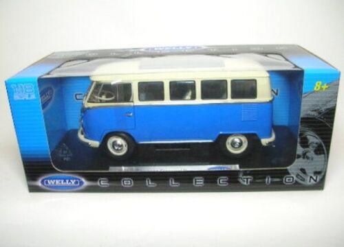 blau//beige 1962  1:18 Welly VW Bus