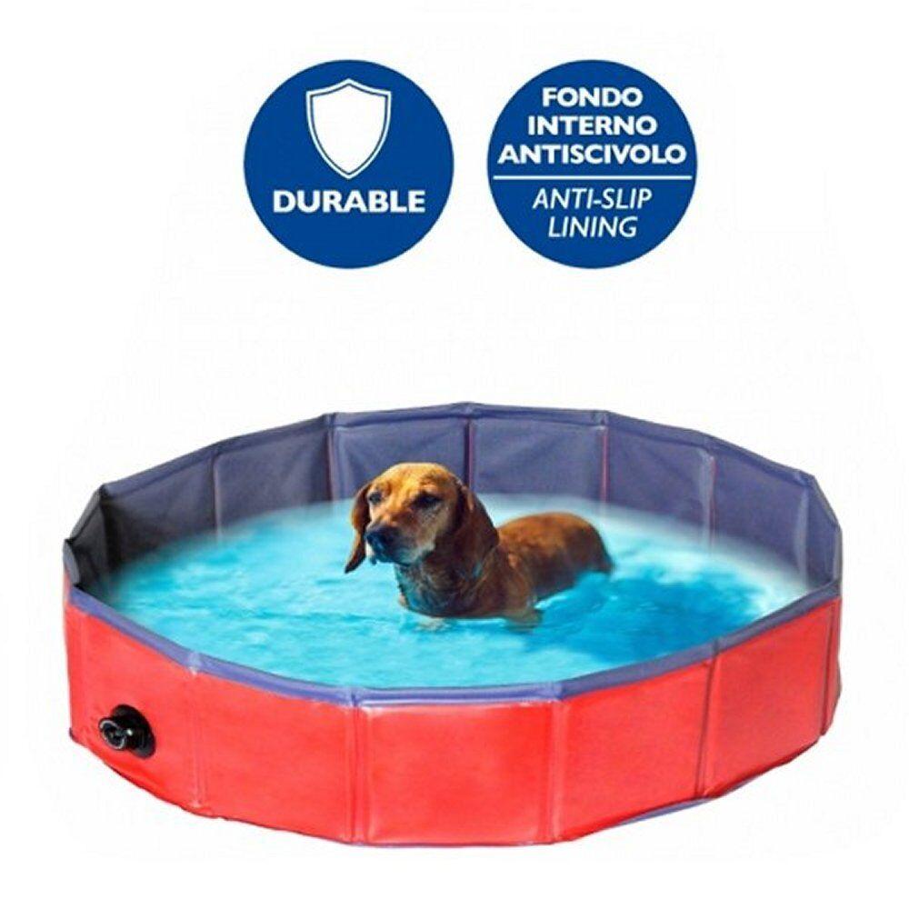 Camon piscina per cani spaziosa, robusta e trasportabile in diverse misure