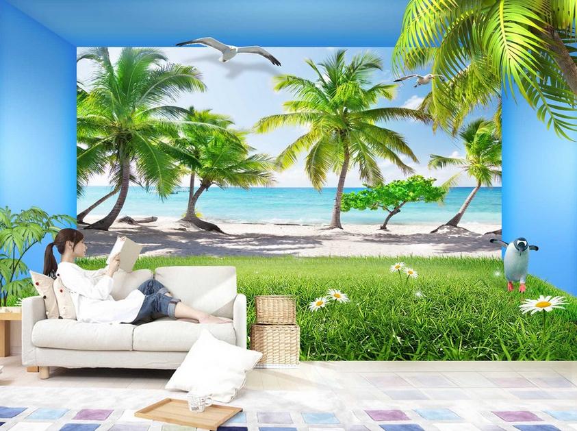 3D Kokosnuss Strand 577 Tapete Tapeten Mauer Foto Familie Tapete Wandgemälde DE