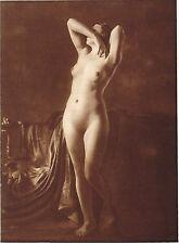1920's Vintage Female German Nude Model Art Deco F. Grainer Photo Gravure Print