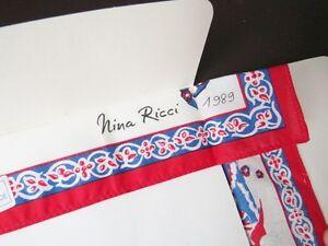 Vintage 1980's Nina Ricci Paris Pure Cotton Square La Jolie Parfumeuse