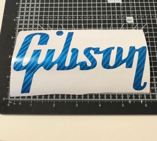 "Gibson Guitar Carbon Fiber Logo 6 x 3.5/"" Decal Vinyl Sticker Guitar Case Fibre"