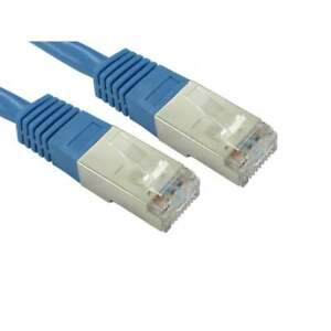 1M-RJ45-CAT5E-RESEAU-ETHERNET-STP-BLINDE-Cable-de-raccordement-fil-Bleu