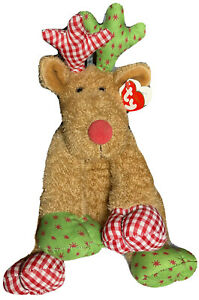 """Christmas Ty Classic Beanie Baby Chestnuts Reindeer 10"""" NWT Year 2006"""