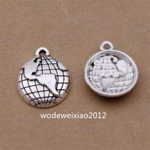 30pc Tibetan Silver Earth Pendant Charms Jewellery Wholesale  JP1173