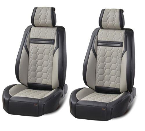 Elegante asiento del coche referencia fundas para asientos ya referencias ya referencia de cuero artificial gris