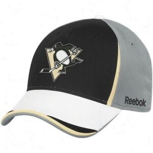 Pittsburgh-Penguins-Cap-NHL-Hockey-Reebok-Eishockey-Flex-Kappe-Size-S-M