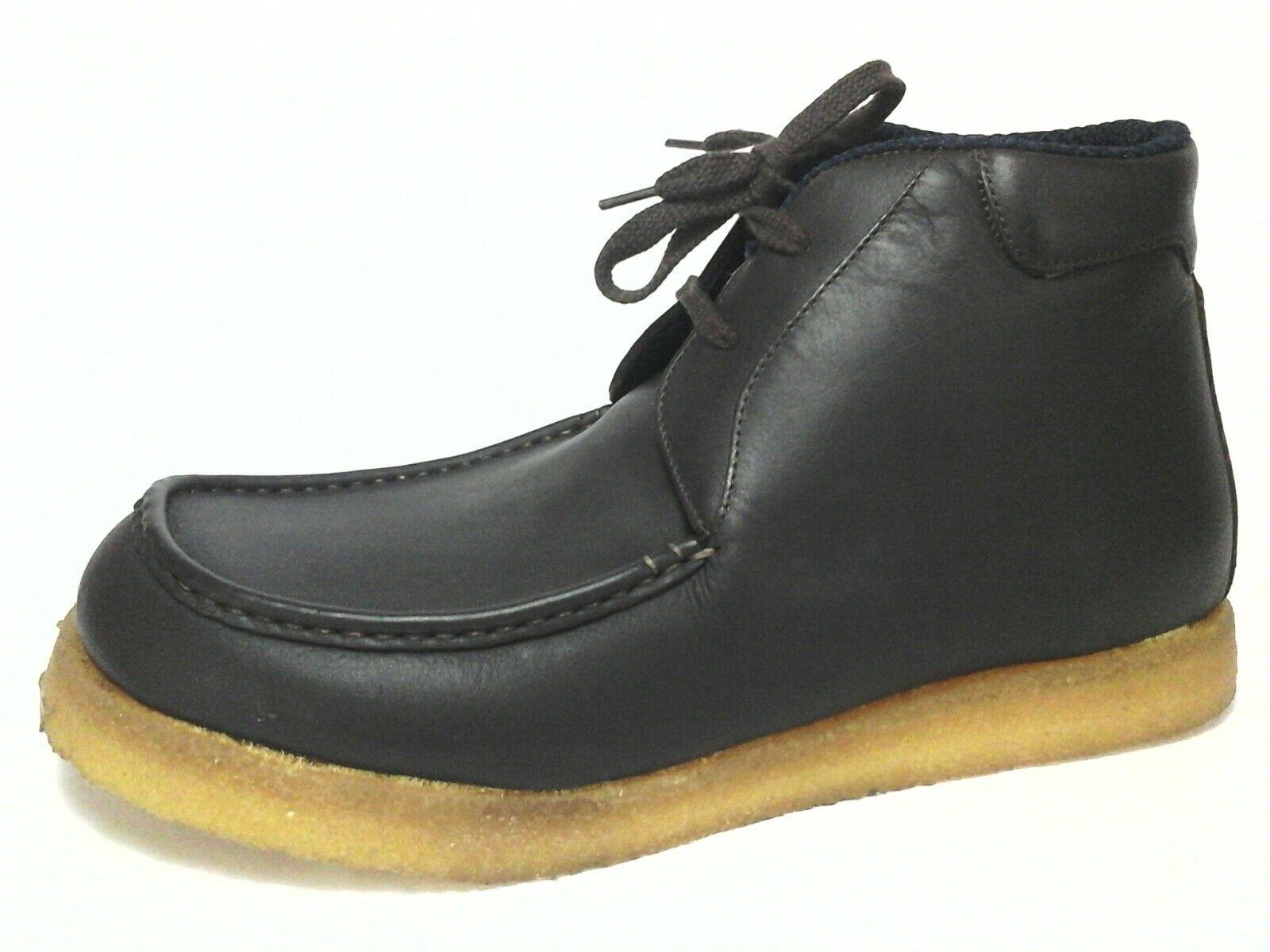 Stussy Moc Informal Chukka botas De Cuero Marrón para Hombre Crepe suelas US 12