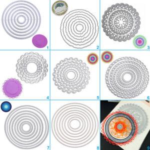 Circle Round Shape Cutting Dies Stencil DIY Scrapbooking Album Card Embossing