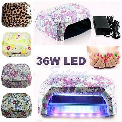 Nail Dryer Curing Lamp 36W LED CCFL Diamond Shape Machine For UV Gel Nail Polish