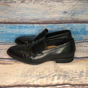 Cole-Haan-Slip-On-Dress-Leather-Shoes-Vintage-Penny-Loafer-Black-Men-s-US-8-5-M