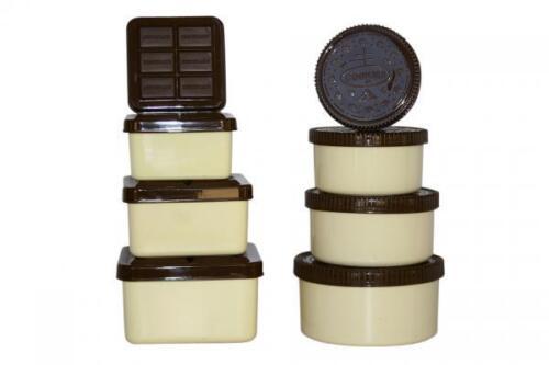 BRAND NEW 8 PIECE COOKIE /& CHOCOLATE STORAGE BOX SET