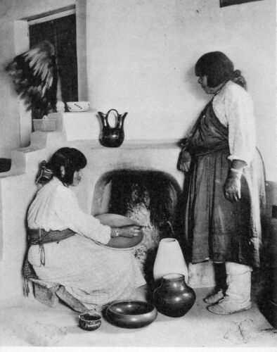 San Ildefonso Old Photo Native American Indian Pueblo Potters New Mexico