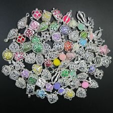 50pcs Mixed Heart Cube Charm Locket Essential Oil Aromatherapy Diffuser Pendant