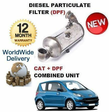 FOR PEUGEOT 1007 1.6HDI 2007> DIESEL PARTICULATE DPF & CAT CATALYTIC FILTER KIT