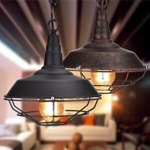 Lampadario-vintage-da-soffitto-Retro-Industriale-Bar-Lampada-a-sospensione-Luci