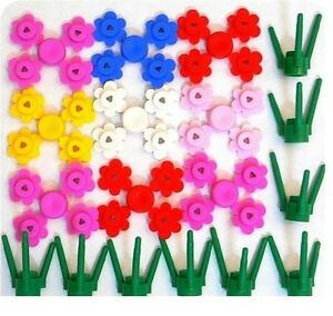 Lego-Flowers-amp-Nature-9-Flowers-and-9-Stems-NEW-plants-bulk-lot