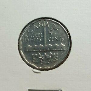 1951-Canada-5-cent-1-Dollar-Georges-V-Moon-Design