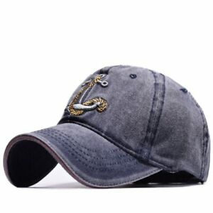 b3645222192 Men s Baseball Cap Women Snapback Hats Embroidery Adjustable Anchor ...