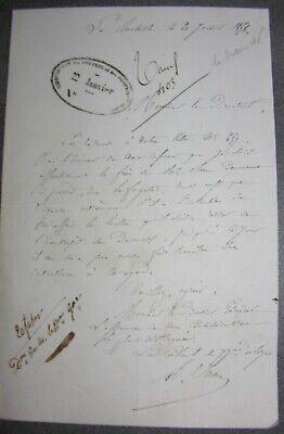 La Rochelle. Signé Colonel Juan 77ème Régiment De Ligne.1856