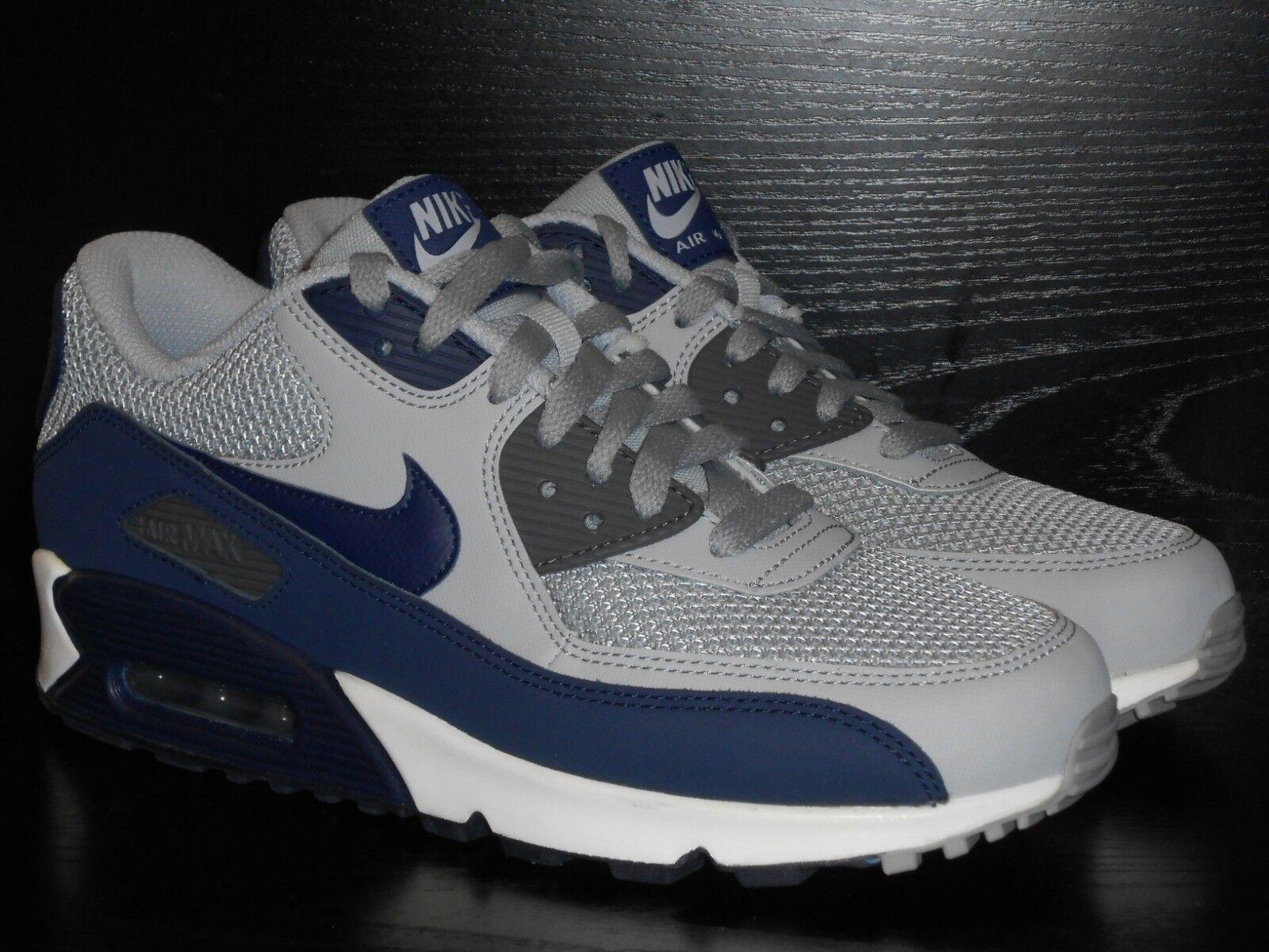 Nike Air Max 90 Ätherische Herren Turnschuh Schuhe Eu 6.5 Grau Binary Marineblau Zuverlässige Leistung