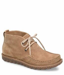Men S Born Lace Up Moc Toe Ankle Boot Glenwood Natural