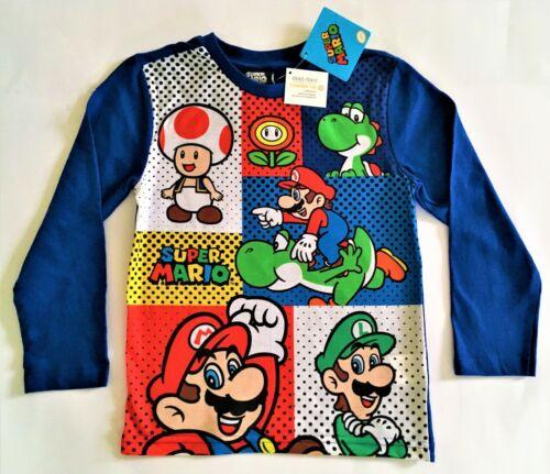 98// 104 Longleeve Super Mario Jungen Langarmshirt T-Shirt Gr