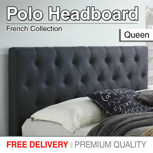 Upholstered Headboard Queen Size Bed Head Tufted Style Fabric For