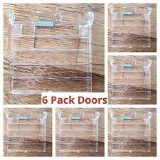 6x jaula de pájaro de reemplazo de puerta/accesorios Con Cables Vertical Para Jaulas De Pajarera/