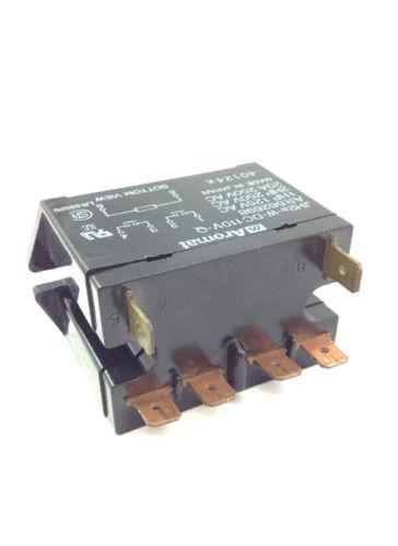 "110VDC 20 Amp Relay Double Pole Single Throw DPST-NO Flange Mount w// .250/"" Term"