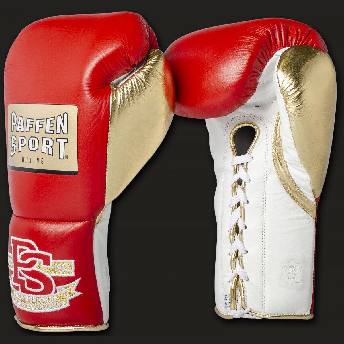 Pro Mexican Boxhandschuhe für den Wettkampf 8 & 10OZ ,Leder, Boxen, Paffen Sport