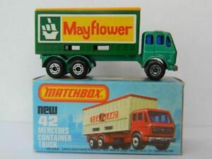 Matchbox Superfast No.42 Camion Container Mercedes Mayflower neuf dans K Box 1981-2