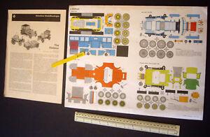 Oldtimer Motor Cars. Vintage 60s/70s JFS Schreiber Paper Model Cut-out Card Kit