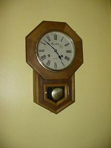 Vintage Montgomery Ward Co Oak Wood Regulator School House Key