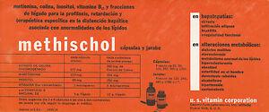 Buvard-Vintage-Methischol-Capsulas-y-jarabe-Espagnol