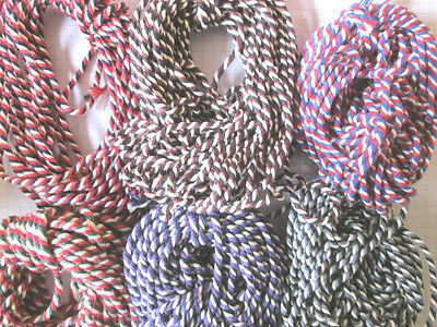 20mts  2mm Thick Cotton Bakers Twine 10mts black 10mts stripy black Halloween