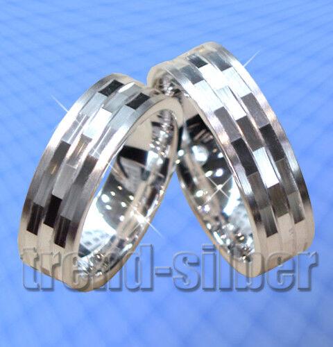 2 Ringe Eheringe Trauringe Silber 925 inkl GRAVUR  J61x