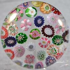 RARE CLICHY CONCENTRIC MILLEFIORI PAPERWEIGHT w/ 37 Canes & 5 DIFFERENT ROSES Yw