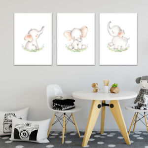 Woodland-Animal-Wall-Art-Canvas-Poster-Nursery-Print-Picture-Baby-Room-Decor