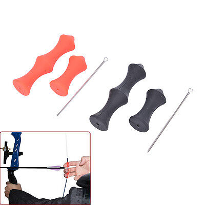 Soft Silicone Finger Saver Guard Protector No Glove Archery Bow Accessories  TD