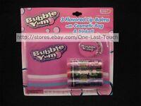 Lotta Love 5pc Gift Set Bubble Yum Gum 3x Lip Balms+cosmetic Bag+keyring Hershey
