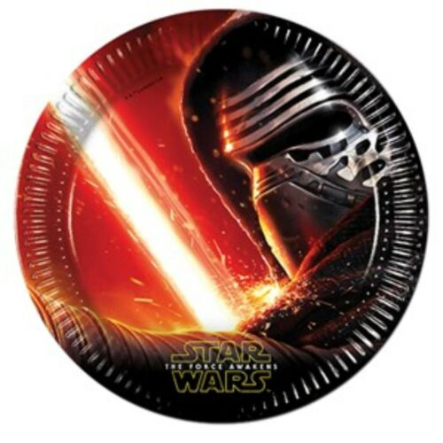 Star Wars Force Awakens Birthday Party Tableware Napkins Plates Cups Tablecover