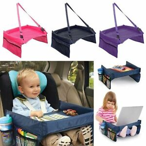 Travel Child Snack Play Tray Lap for Car Seat Table Tidy Toddler Portable New