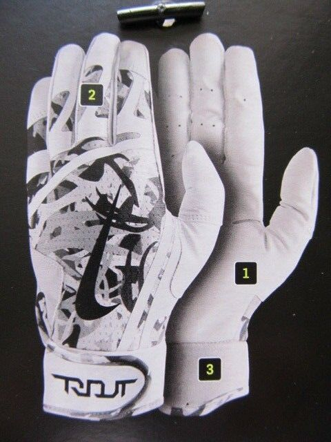 03b73c736c10 Nike Trout Edge Batting Gloves Game Royal white Adult Large Unisex for sale  online