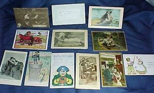 12 Vintage Postcards Romantic Couples Comedy Colonial Arts Colorgravure Ungell