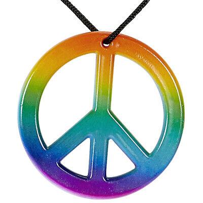 Woodstock Peacekette mit Anhänger Halskette Peacezeichen Cooler Hippie Schmuck