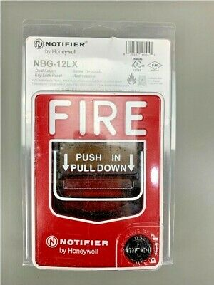 NEW NOTIFIER NBG-12LX FIRE ALARM ADDRESSABLE DUAL ACTION PULL STATION WITH KEY